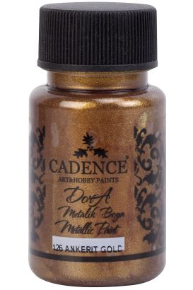 Cadence Dora Metalik Boya Ankerit Altın 50ml