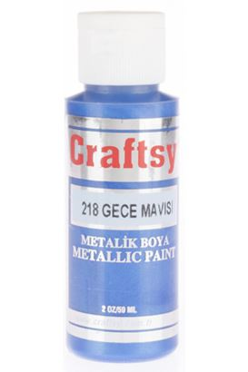 Craftsy Boya Metalik Gece Mavi 59ml