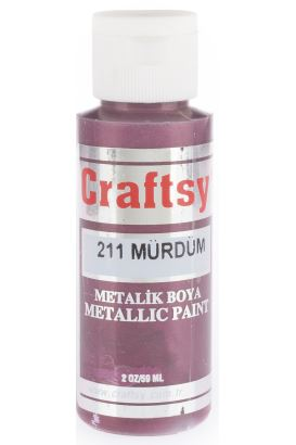 Craftsy Boya Metalik Mürdüm 59ml