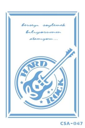 Craftsy Stencil Hard Rock CSA-047