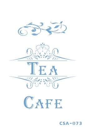 Craftsy Stencil Tea Cafe CSA-073
