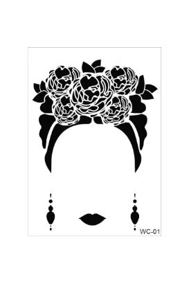 Frida Kahlo Woman Collection A4 Stencil 01