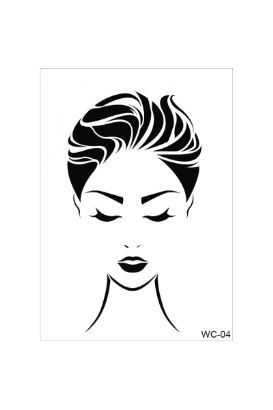 Woman Collection A4 Stencil 04