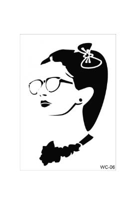 Woman Collection A4 Stencil 06