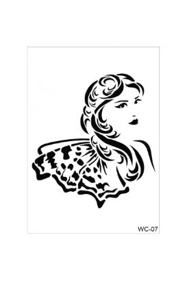 Woman Collection A4 Stencil 07