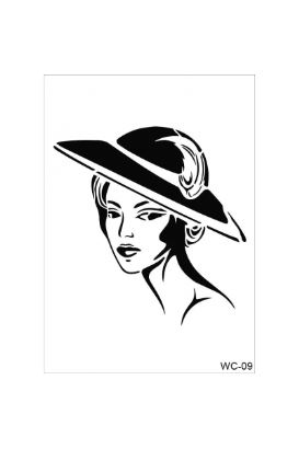 Woman Collection A4 Stencil 09