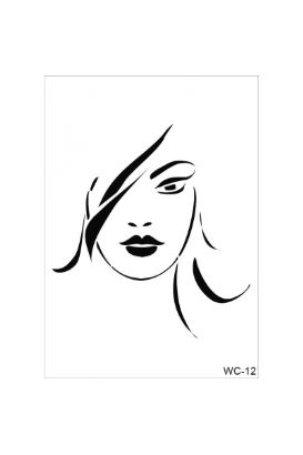 Woman Collection A4 Stencil 12