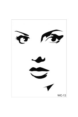 Woman Collection A4 Stencil 13