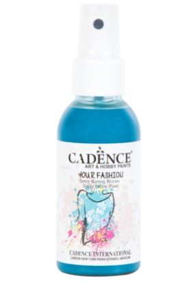 Cadence Your Fashion Sprey Kumaş Boyası Koyu Turkuaz 100ml