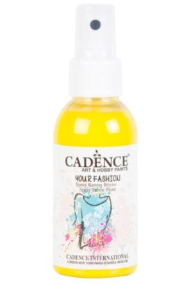 Cadence Your Fashion Sprey Kumaş Boyası Limon sarı 100ml