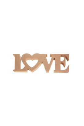 MDF LOVE YAZISI ( 31,5cm 11,5cm 18mm )