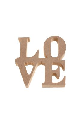 MDF LOVE YAZISI ( 17,5cm 16cm 18mm )