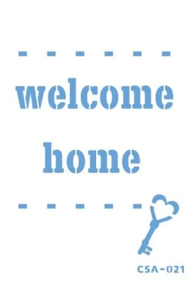 Craftsy Stencil Welcome home CSA-021