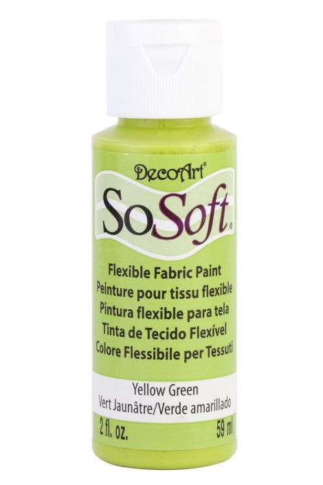 Decoart Sosoft Acrylıc Boya Lamp Black 59ml Yellow Green